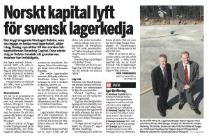 Norskt kapital lyfter svensk lagerkedja