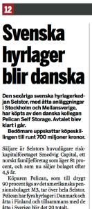 Svenska Hyrlager blir danska